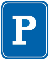 This sign means that there is an indoor car park here.