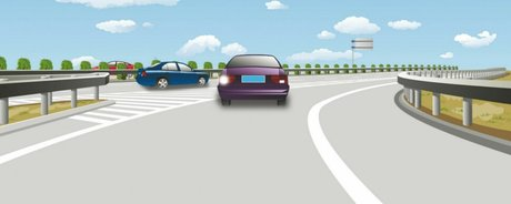 The behaviour of the driver of the car entering the carriageway of the expressway is correct.