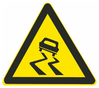 This sign warns vehicle drivers there is a sharp curve ahead.