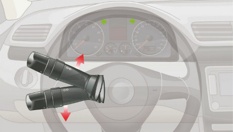 Pulling this switch controls which part of the vehicle?